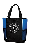 Pendleton Wildcats Large Zipper Top Tote Bag Heat Pressed Vinyl Logo