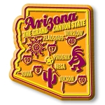 Arizona Premium State Map Magnet