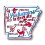 Arkansas Premium State Map Magnet