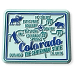 Colorado the Centennial State Premium Map Fridge Magnet
