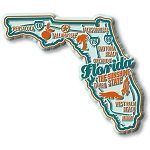 Florida the Sunshine State Premium Map Fridge Magnet