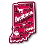 Indiana the Hoosier State Premium Map Fridge Magnet