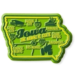 Iowa the Hawkeye State Premium Map Fridge Magnet
