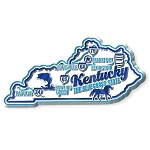 Kentucky the Bluegrass State Premium Map Fridge Magnet