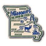 Missouri the Show Me State Premium Map Fridge Magnet