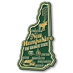 New Hampshire the Granite State Premium Map Fridge Magnet