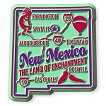 New Mexico Premium State Map Magnet