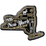 New York the Empire State Premium Map Fridge Magnet