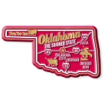 Oklahoma the Sooner State Premium Map Fridge Magnet