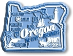 Oregon We Love Dreamers Premium State Map Fridge Magnet