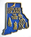 Rhode Island State Outline Fridge Magnet Design 2