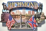 Richmond Virginia Artwood Fridge Magnet Design 27