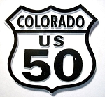 Rt 50 Colorado Road Sign Fridge Magnet Design 25