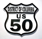 Rt 50 Washington D.C. Fridge Magnet Design 25