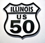 Rt 50 Illinois Road Sign Fridge Magnet Design 25