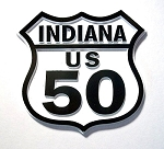 Rt 50 Indiana Road Sign Magnet Design 25