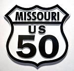 Rt 50 Missouri Road Sign Fridge Magnet Design 25