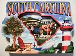 South Carolina Montage Artwood Fridge Magnet Design 27