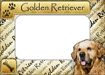 Golden Retriever Picture Frame Fridge Magnet