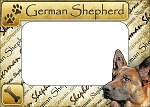 German Shepherd Picture Frame Fridge Magnet