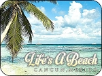 Cancun Mexico Life's a Beach Fridge Magnet