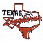 Texas Longhorns State Outline Map Fridge Magnet