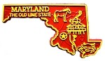 Maryland The Old State Line Map Fridge Magnet