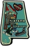 Alabama Multi Color Fridge Magnet