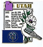 Utah The Beehive State Montage Fridge Magnet