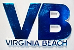 Virginia Beach VB Blue Fridge Magnet Design 10