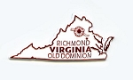 Virginia State Outline Fridge Magnet