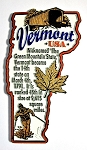 Vermont Outline Montage Fridge Magnet