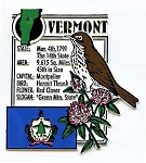 Vermont The Green Mountain State Montage Fridge Magnet Design 5