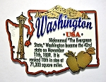 Washington Outline Montage Fridge Magnet Design 4