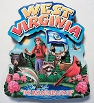 West Virginia Montage Artwood Fridge Magnet Design 16