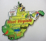 West Virginia State Outline Decowood Jumbo Fridge Magnet Design 10
