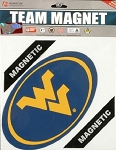 WVU West Virginia Mountaineer's Oval 8 inch Car Magnet-NCAA
