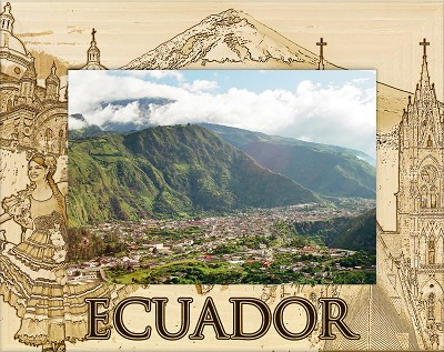 Ecuador Laser Engraved Wood Picture Frame (5 x 7)
