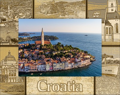 Croatia Laser Engraved Wood Picture Frame (5 x 7)