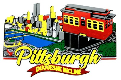 Pittsburgh Pennsylvania with Duquesne Incline Fridge Magnet