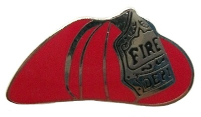Firemans Helmet Hat Tac or Lapel Pin