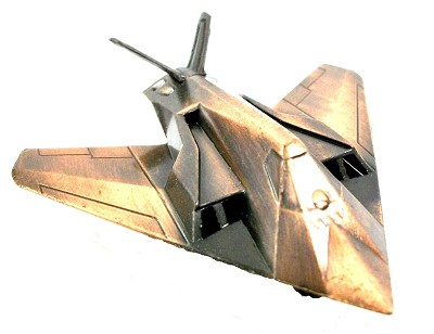 F-117A Stealth Fighter Plane Die Cast Metal Collectible Pencil Sharpener