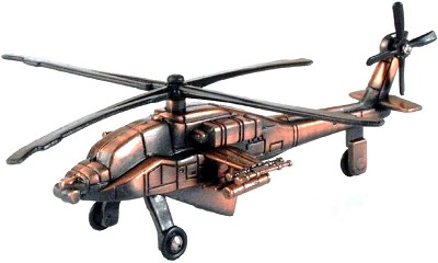 Army Apache Helicopter Die Cast Metal Collectible Pencil Sharpener
