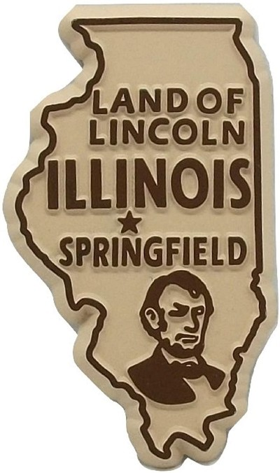Illinois The Land of Lincoln Fridge Magnet
