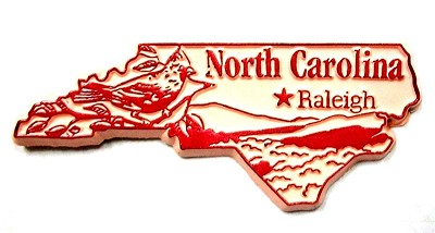 North Carolina Outline Fridge Magnet