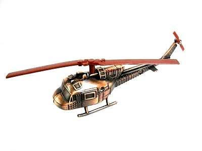Huey Helicopter Die Cast Metal Collectible Pencil Sharpener