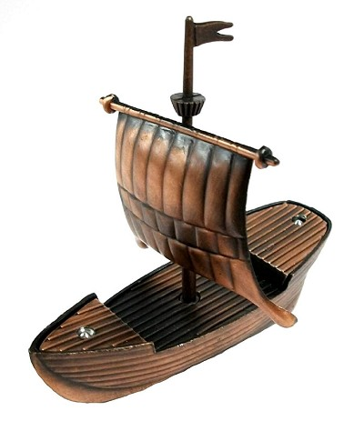 Viking Ship Die Cast Metal Collectible Pencil Sharpener