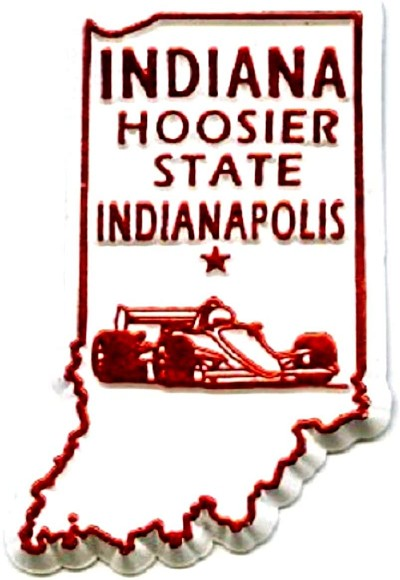 Indiana State Outline Magnet