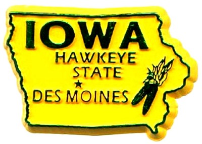Iowa State Outline Magnet
