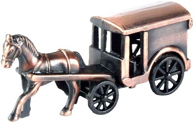 Coach with Horse Die Cast Metal Collectible Pencil Sharpener